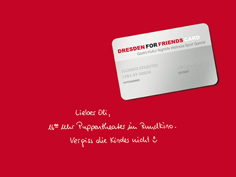 Grafikdesign & Kampagne für dresden for friends